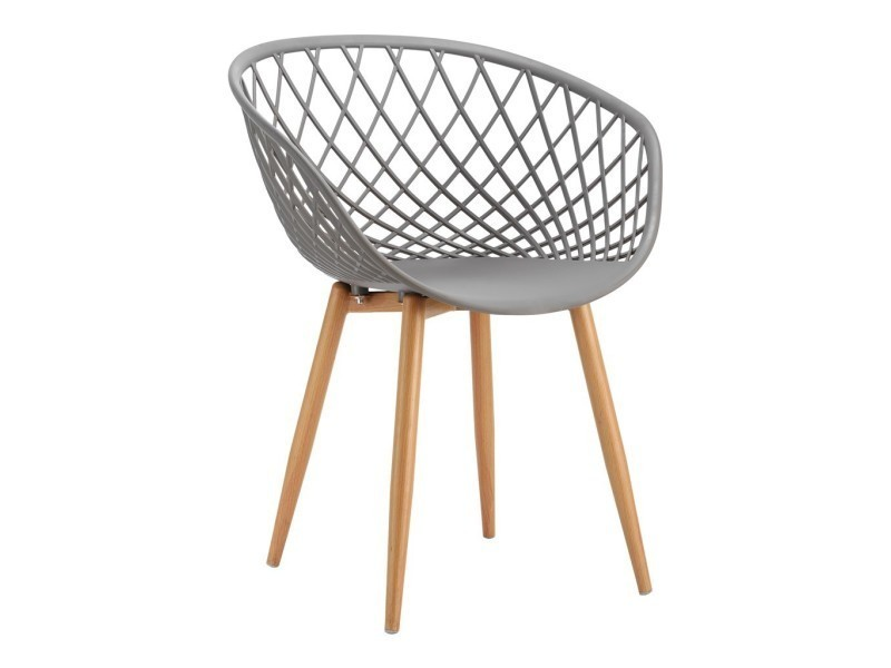 assise gris Tango fauteuil en métal pp 57x63xh81cm en avec srtxdhCQ