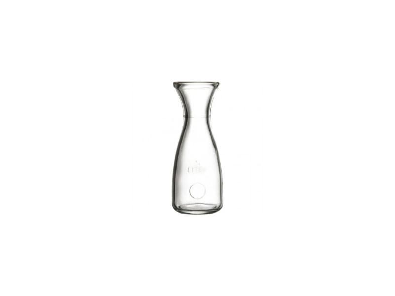 Carafe à vin en verre trempée 0.5 à 1.0 l - lot de 6 - stalgast - 7,6 cm verre 50 cl 0.500 l
