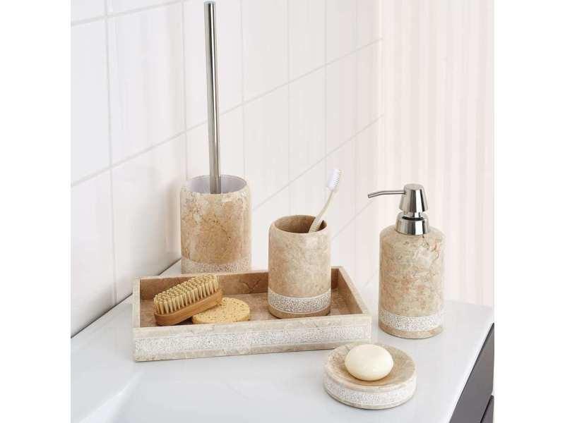 Ridder brosse de toilette avec support posh marbre 429750