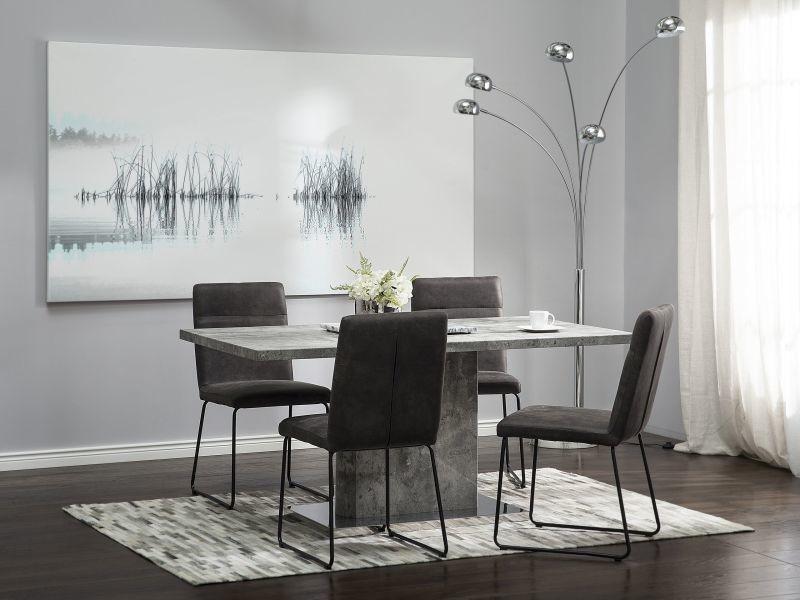 Table de salle à manger gris ciment pasadena 80616