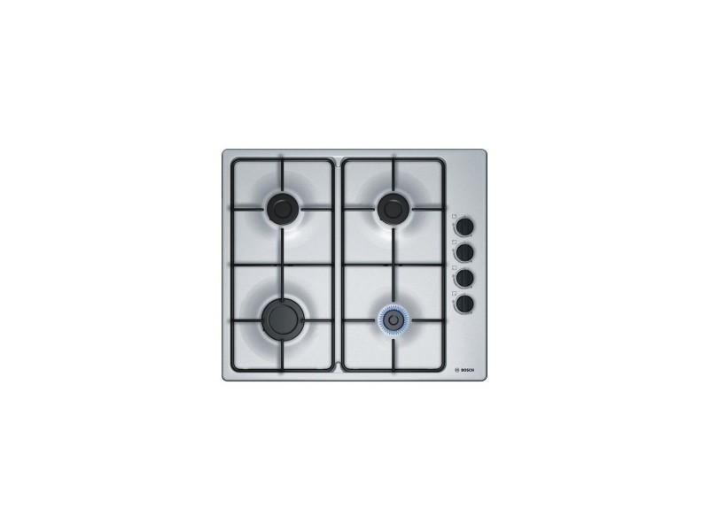 Table de cuisson gaz - 4 foyers - 1 foyer rapide 3000w - 58cm - inox