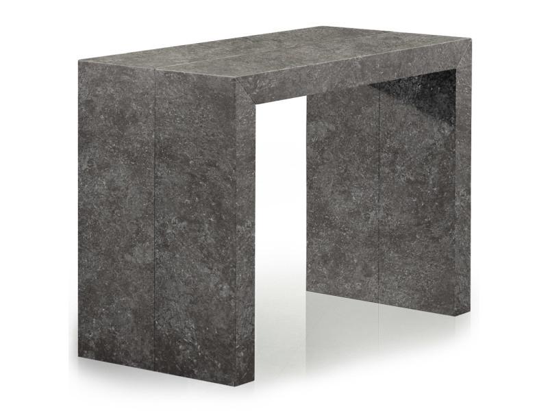 Table console extensible nassau effet béton gris vente de table