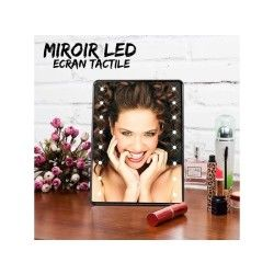 Miroir maquillage led écran tactile
