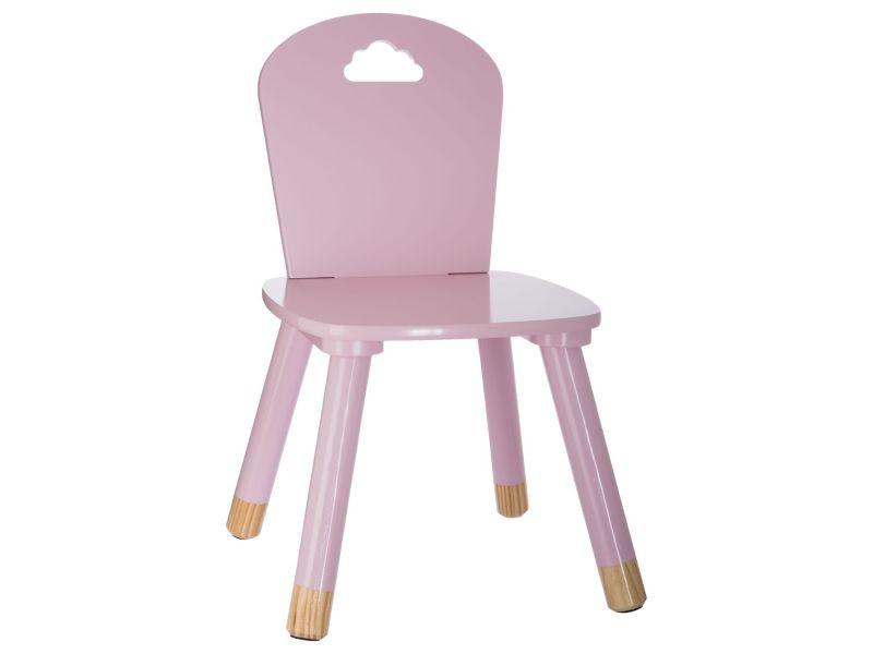Chaise enfant en bois douceur - rose