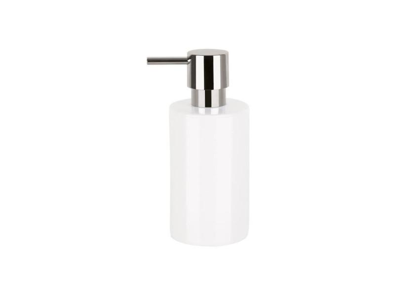 Tube distributeur de savon porcelaine - 16x7x7 cm - blanc