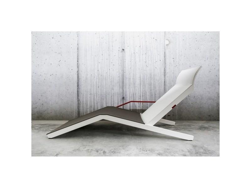Blanc Egoe Alva Bicolore Longue Chaise Batyline Aluminium Et xdeBroC