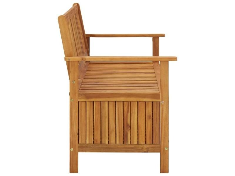 Vidaxl banc de rangement de jardin 120 cm bois d'acacia solide 310279