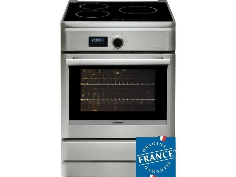 Brandt bci6658t-cuisiniere table induction-3 zones-four electrique-pyrolyse-57 l-a-l 60 x h 85 cm-silver BRABCI6658T
