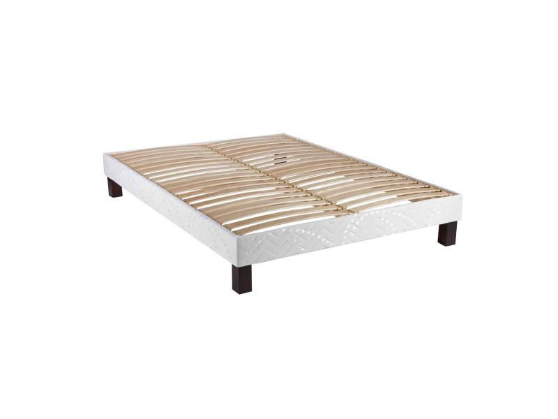 sommier tapissier lattes apparentes someo benou 140x200. Black Bedroom Furniture Sets. Home Design Ideas