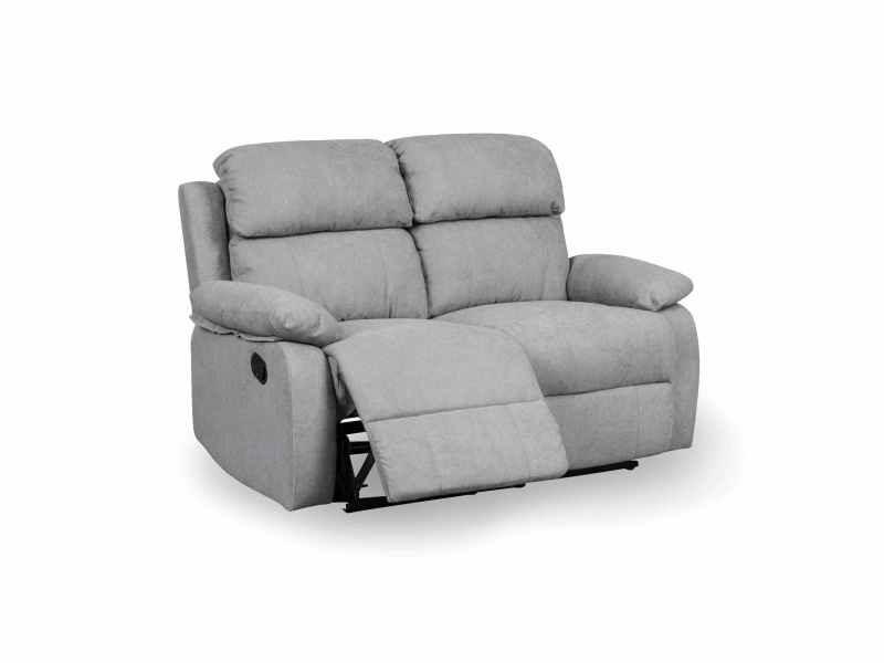 Canapé relax 2 places en tissu gris keaton