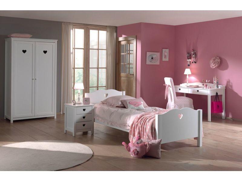 Ensemble 4 pièces pour chambre à coucher romantique 90x200 cm ...
