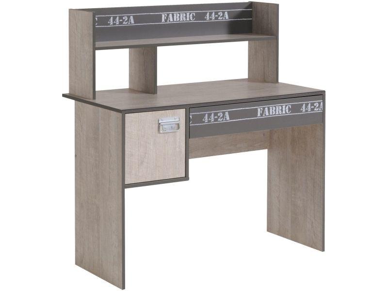 Bureau enfant moderne coloris bois et gris loft p-6368-co fabrica - Vente de COMFORIUM - Conforama