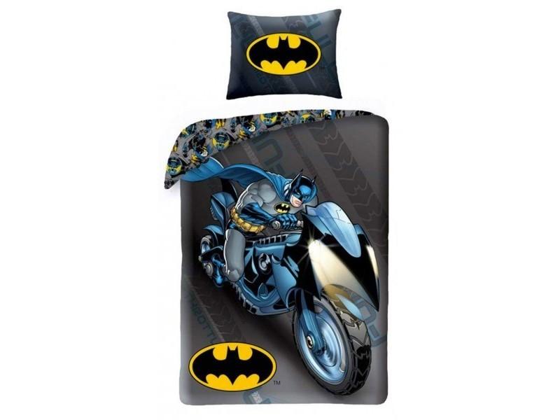 Batman Moto Parure De Lit Enfant Housse De Couette Coton