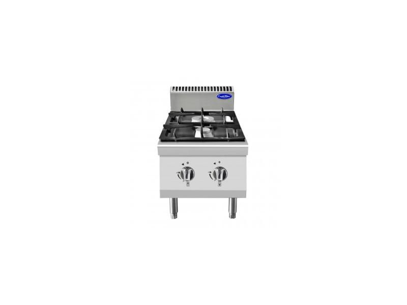 Piano de cuisson gaz professionnel série 700 - 2 feux à poser - atosa -
