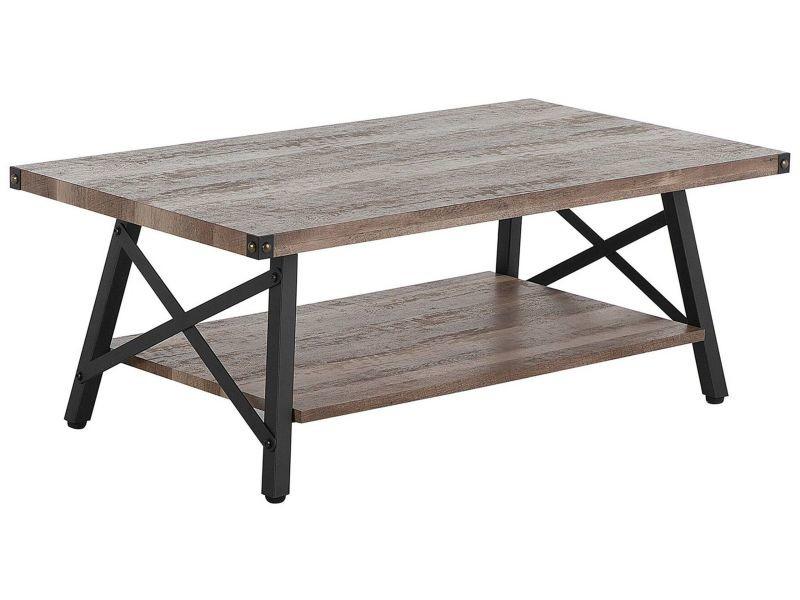 Table basse bois foncé 100 x 55 cm carlin 167940