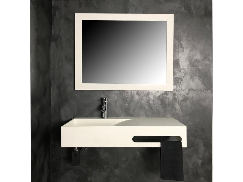 vasque suspendue 90 cm en solid surface granada vente de vasque et lavabo conforama. Black Bedroom Furniture Sets. Home Design Ideas