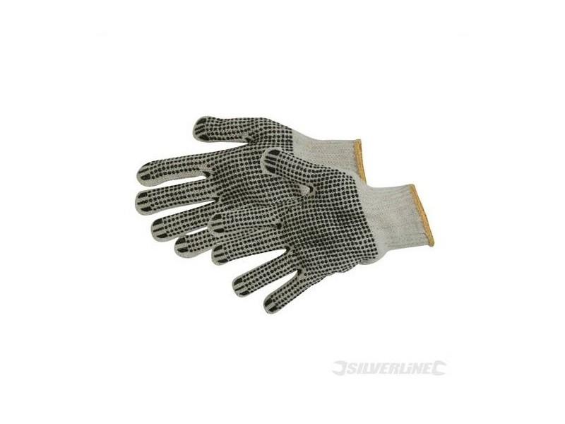 Silverline - gants à points pvc sur paume et revers