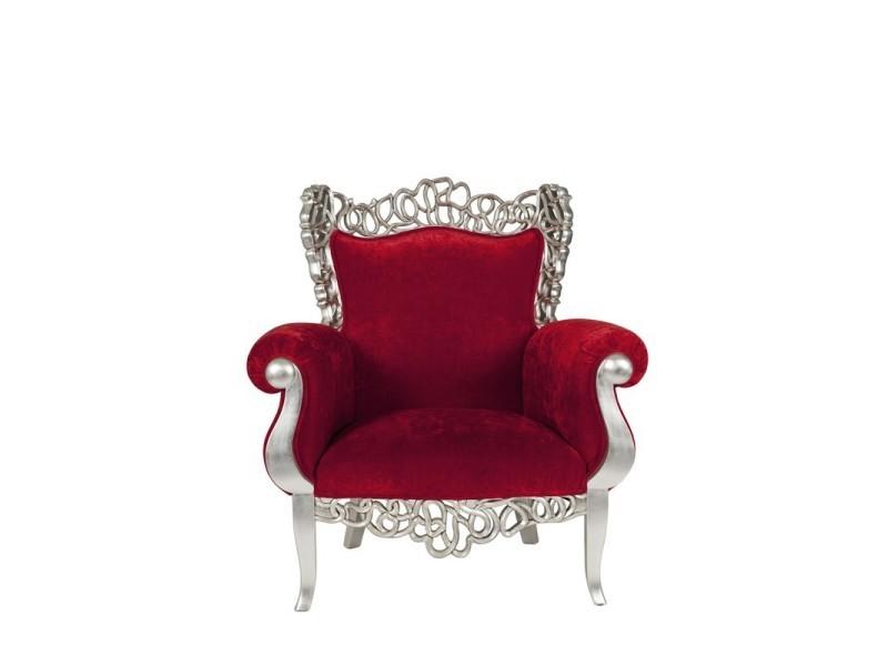 fauteuil baroque rouge precious l 110 x l 90 x h 120 neuf vente de tousmesmeubles. Black Bedroom Furniture Sets. Home Design Ideas