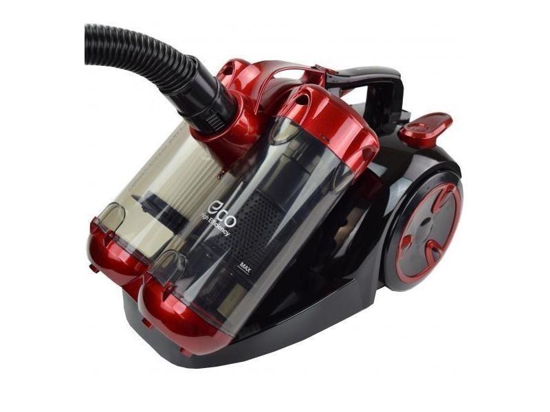 Aspirateur sans sac double cyclone noir rouge