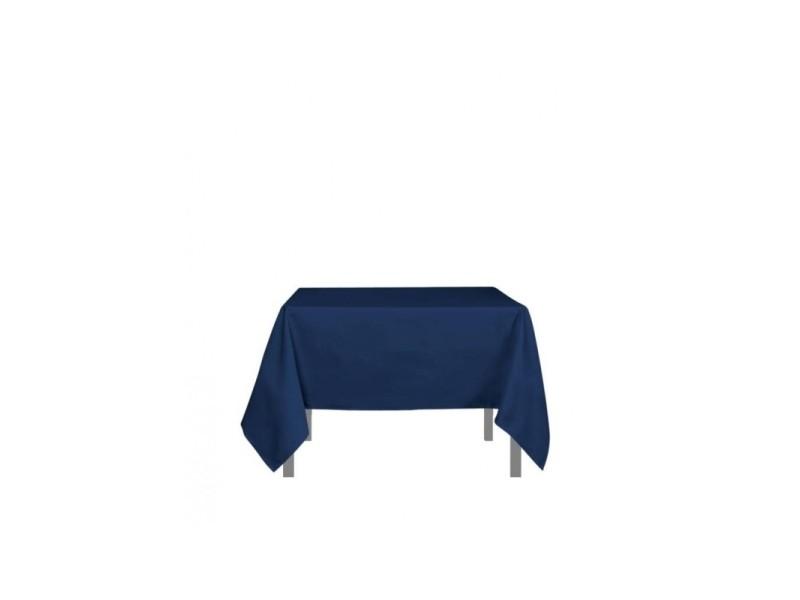 Nappe carré anti-tâches alix - l 180 x l 180 cm - bleu
