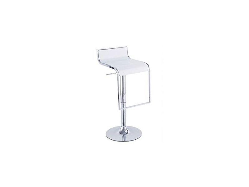 Tabouret de bar blanc - l:36 l:38 h:70-90 - baakal and ross