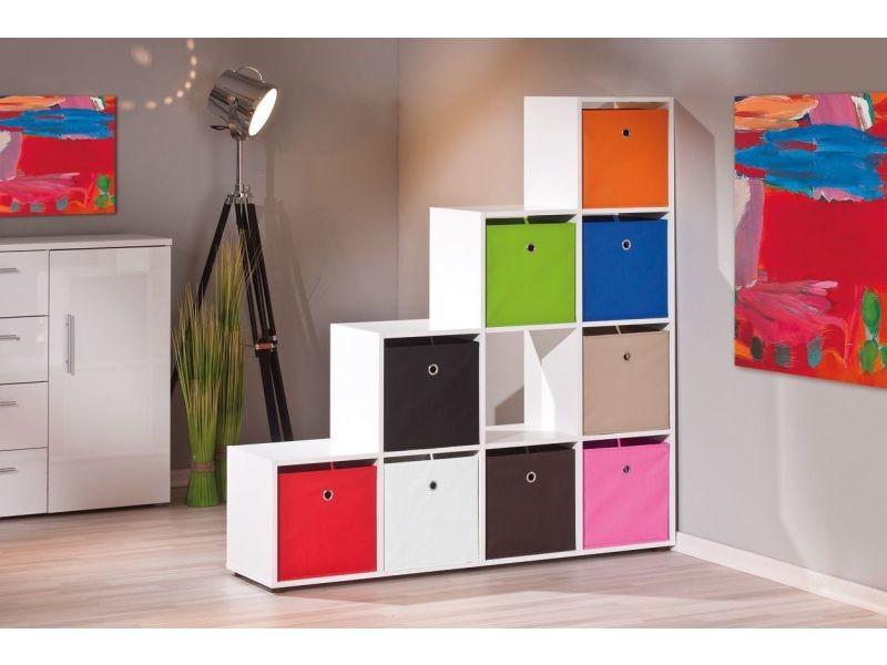 meuble de s paration design escalier coloris blanc vente de comforium conforama. Black Bedroom Furniture Sets. Home Design Ideas