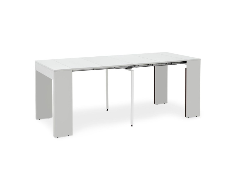 Table extensible loic blanc laqué