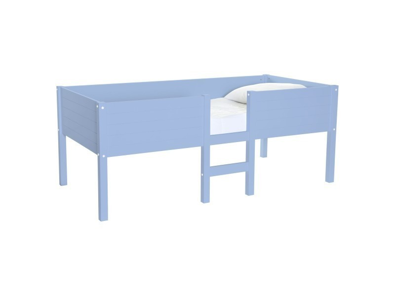lit enfant sur lev gar on bleu serenity lit sureleve school bleu s vente de lit enfant. Black Bedroom Furniture Sets. Home Design Ideas