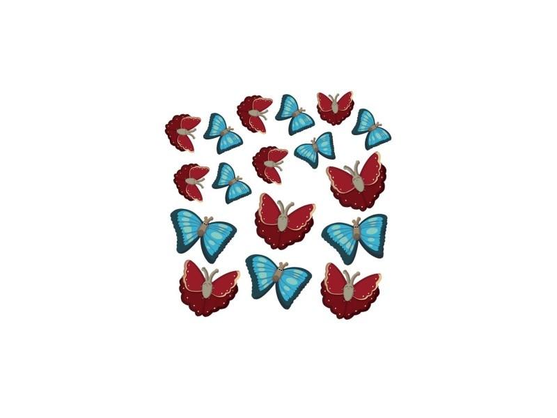 Stickers : les 17 papillons de la ferme