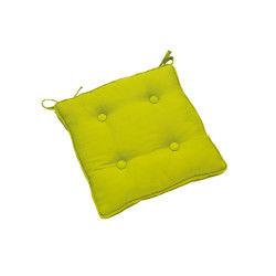 Galette de chaise à boutons 38x38 verte