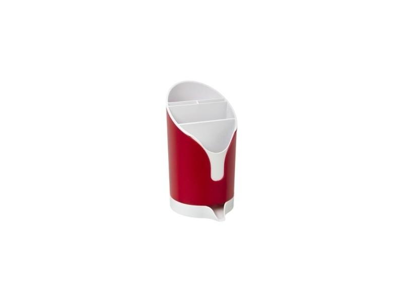 Egouttoir à couverts - 20 x 11 x 13 cm - rouge