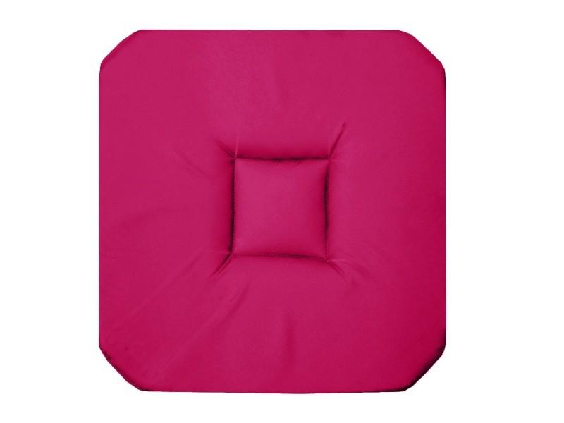 Coussin Galette De Chaise 4 Rabats 36 X Cm Rose Fushia Panama