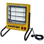 Radiateur chauffage infrarouge électrique jaune bricolage atelier chantier helloshop26 3902045