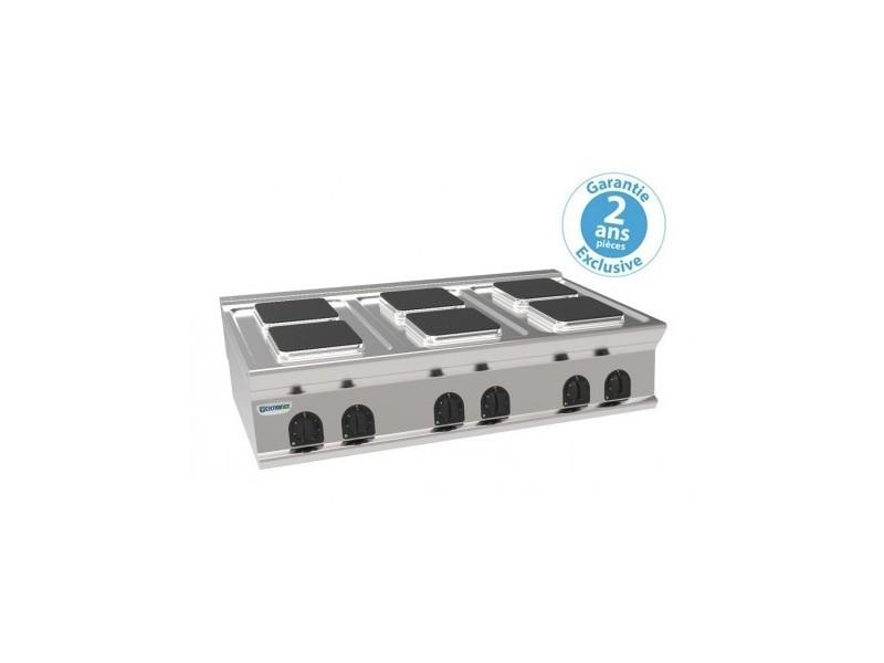 Réchaud électrique à poser - 6 plaques carrées - gamme 700 - tecnoinox - 700