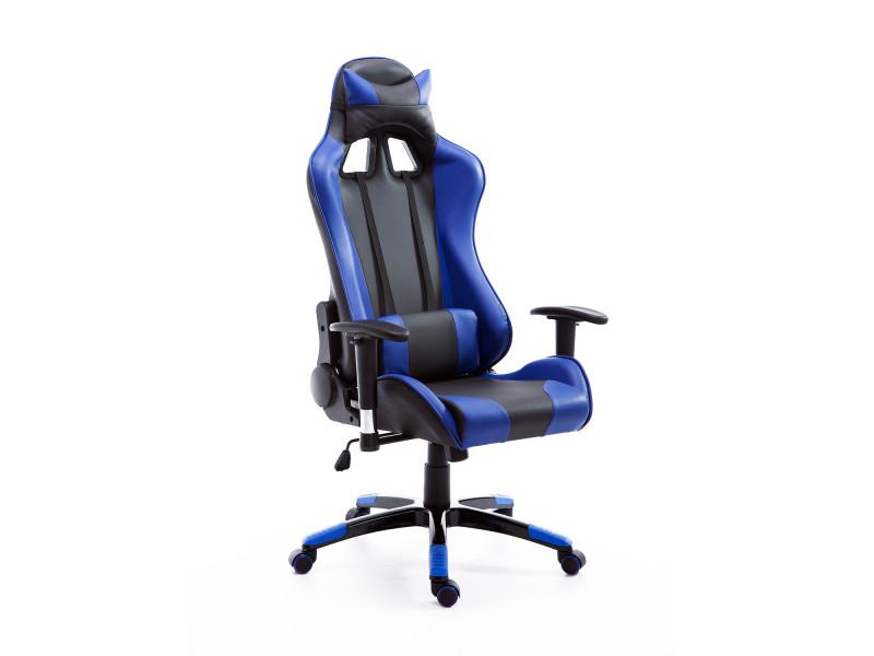 fauteuil de bureau manager grand confort style baquet racing pivotant inclinable avec coussins. Black Bedroom Furniture Sets. Home Design Ideas