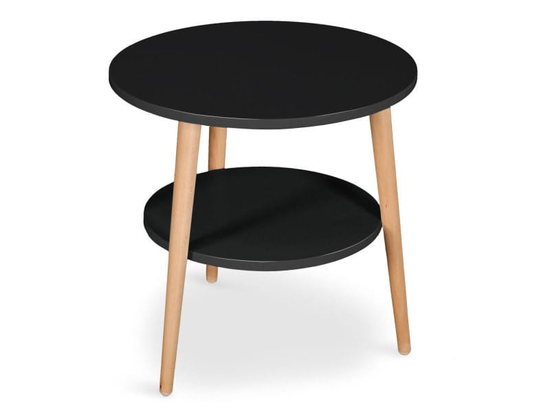 table basse d 39 appoint scandinave tiny noir vente de menzzo conforama. Black Bedroom Furniture Sets. Home Design Ideas