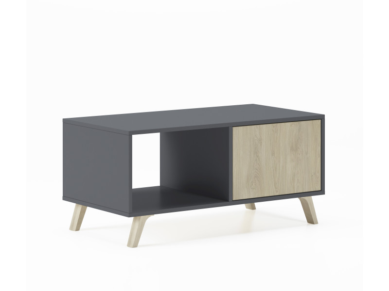 Table basse wind gris anthracite-puccini, 92x50x45cm