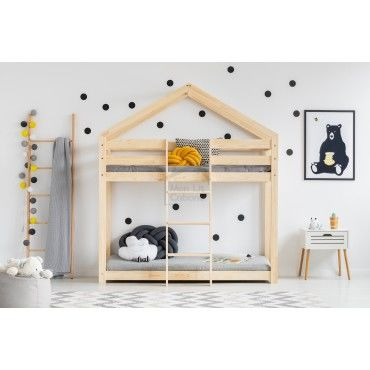lit superpos cabane bois massif sommiers 70x140 vente de lit enfant conforama. Black Bedroom Furniture Sets. Home Design Ideas