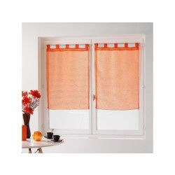 Une paire de rideau voilage 60 x 90 cm coupe dandy orange