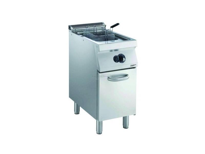 Friteuse à gaz avec robinet de vidange - 15 litres - 14 kw - combisteel