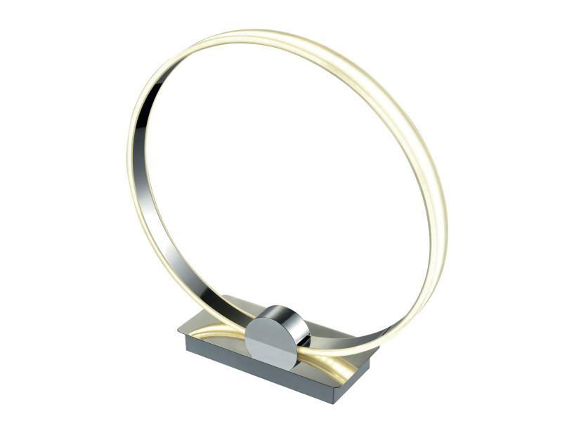 Lampe Led Design Circle Argentee En Metal Chrome Vente De Lampe