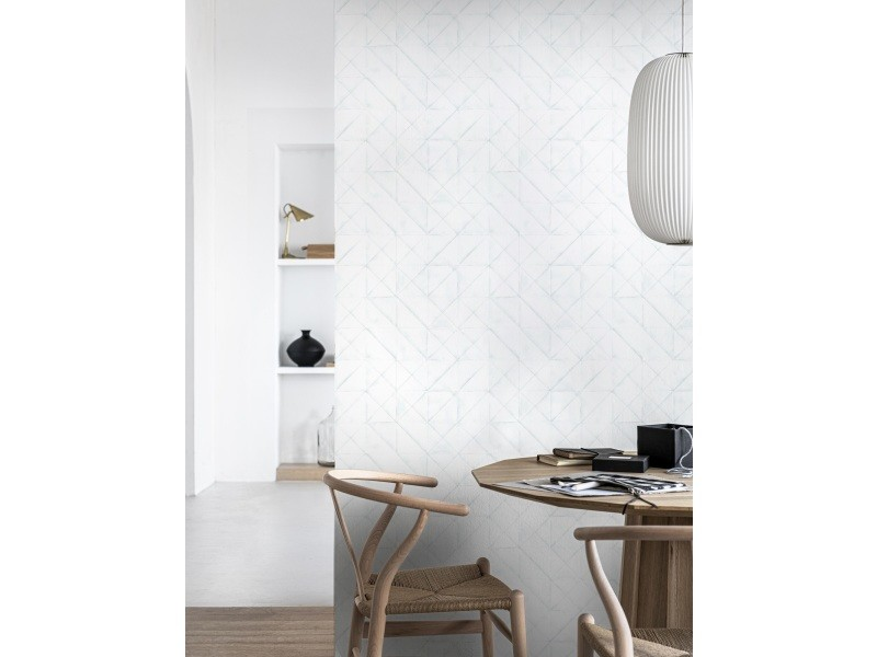 Papier peint panoramique intissé origami 200 x 280cm blanc 107335