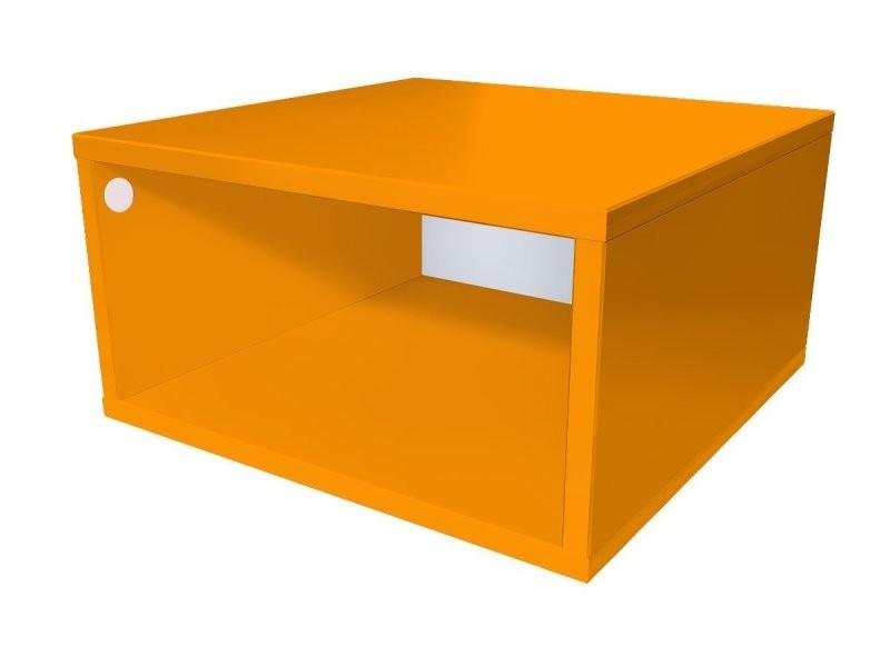 Cube de rangement bois 50x50 cm 50x50 orange CUBE50-O