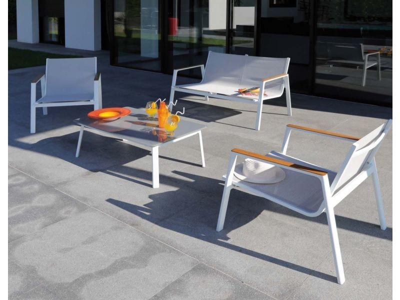 Salon de jardin en aluminium venus 4 personnes - Vente de PROLOISIRS ...