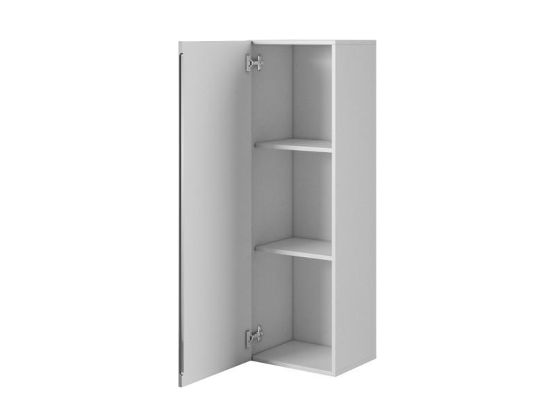 E-com - armoire de rangement a suspendre fay - 120 cm - blanc/gris HC 7E028.120-WGHG - Vente de ...