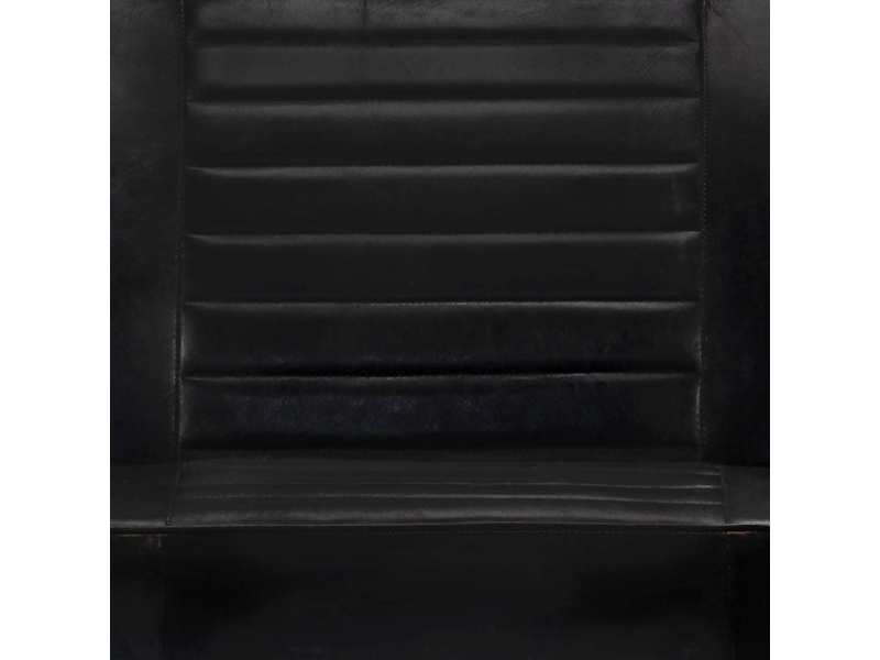 Vidaxl canapé à 2 places noir cuir véritable 247652
