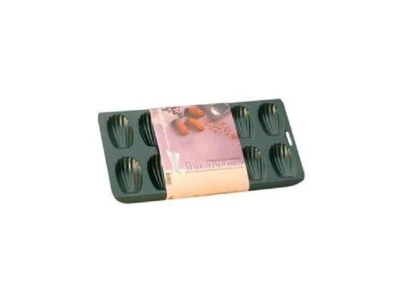 Plaque a madeleine antiadhésif en acier revetu - 12 cavités - 40x19 cm - noir PAT8712187028488