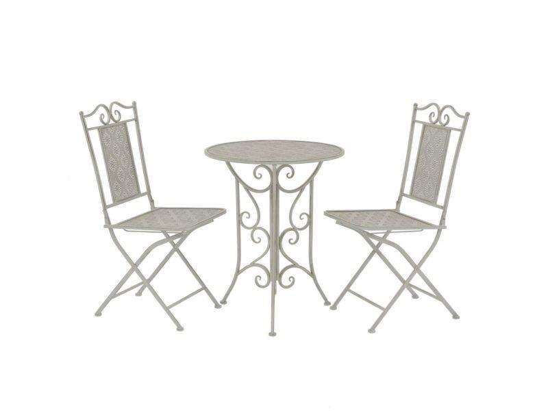 Moderne meubles de jardin gamme dili jeu de bistro 3 pcs acier gris