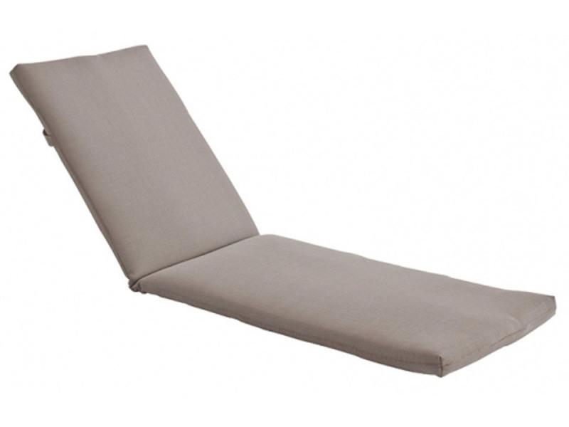 coussin pour bain de soleil en bois exotique gris vente de habitat et jardin conforama. Black Bedroom Furniture Sets. Home Design Ideas