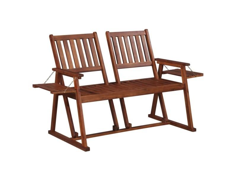 Vidaxl banc de jardin 165 cm bois d\'acacia solide 44066 - Vente de ...